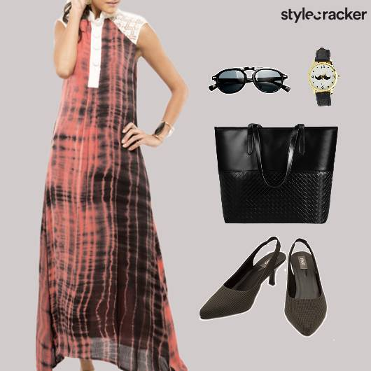 TieDye MaxiDress ToteBag Brunch - StyleCracker