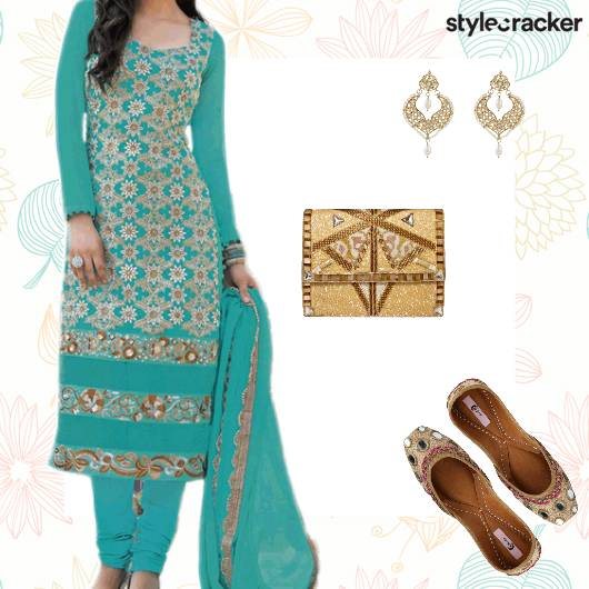 Festive Ethnic Indian Suit Juttis - StyleCracker
