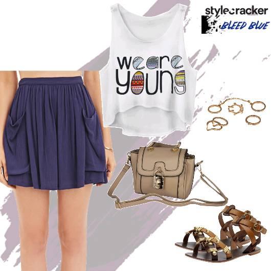 Casual Skirt CropTop CricketMatch - StyleCracker