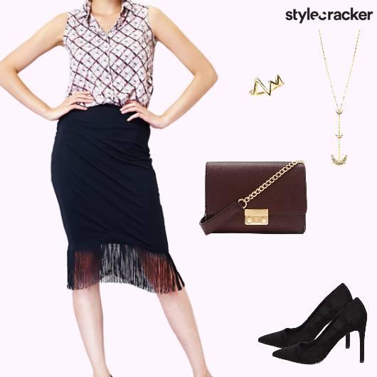 Dinner Nightout Midi Skirt - StyleCracker