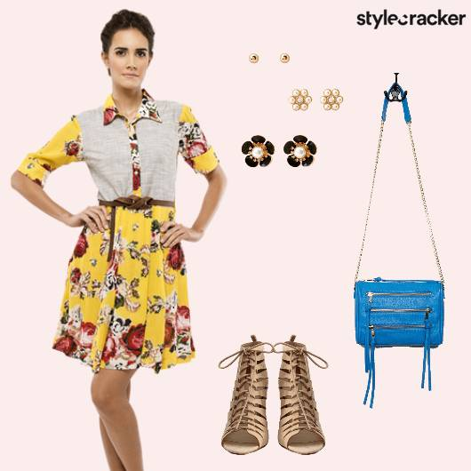 SummerDresses Casual LaceUp Floral  - StyleCracker