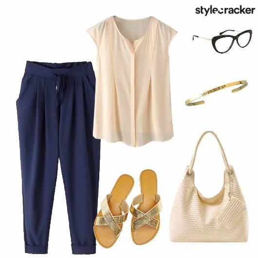 Top Trousers Handbag Flats Bracelet - StyleCracker
