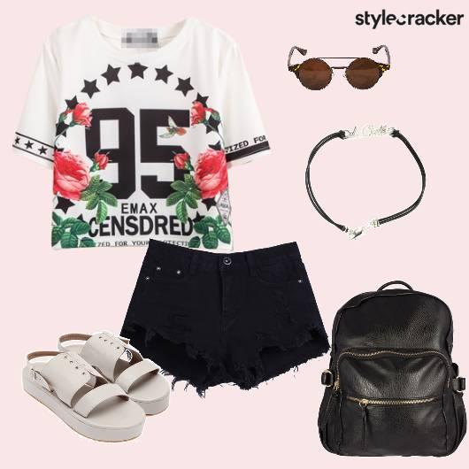 Top Shorts Backpack Flatforms Casual BacktoSchool - StyleCracker