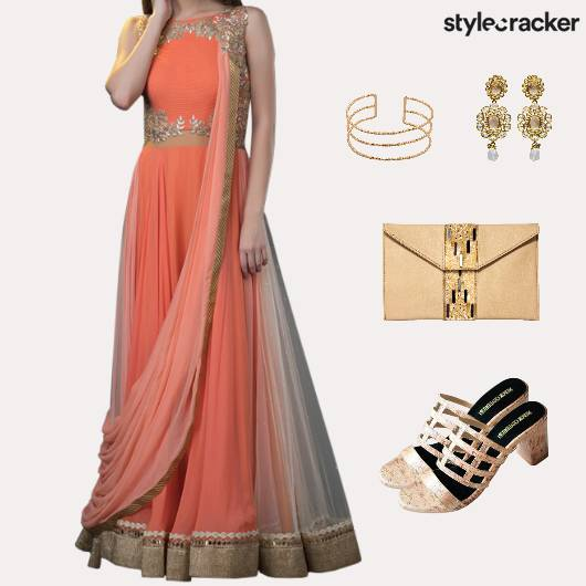 Indian Reception Wedding Ethnic - StyleCracker