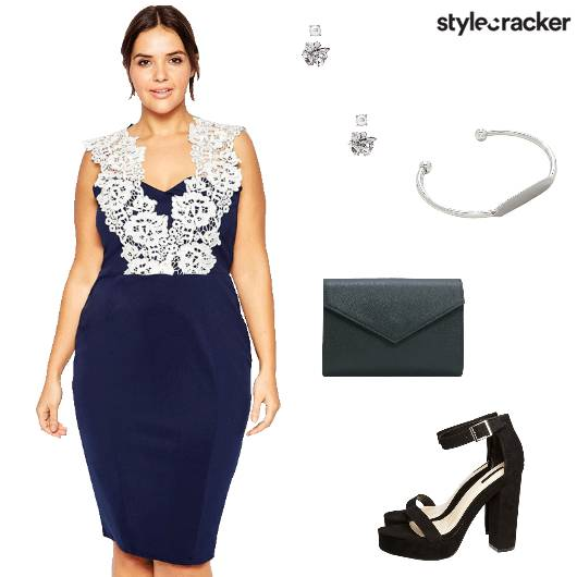 Bodycon Dress Blockheels Envelopeclutch Party - StyleCracker
