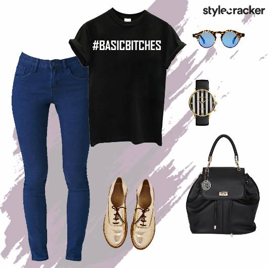 Tshirt jeans Backpack Shoes Watch Casual - StyleCracker
