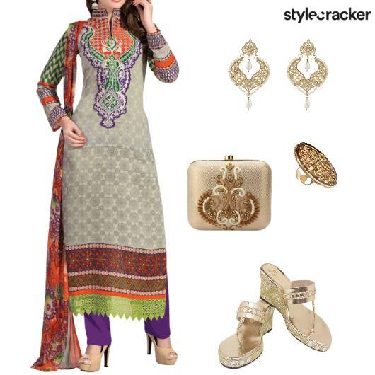 Suit Heels Clutch Ethnic Indian - StyleCracker