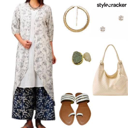 Suit Flats Bag Studs Ethnic Indian - StyleCracker
