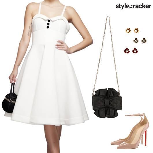 Vintage Dress SlingBag Heels - StyleCracker