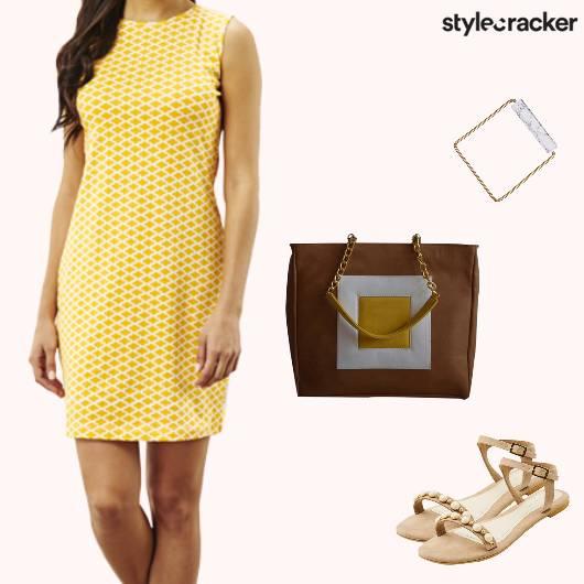 Casual Work Dress Print - StyleCracker