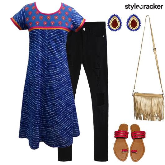 Kurta Casual Indian Fringe  - StyleCracker