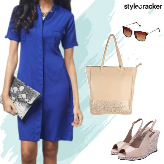 Work Meeting Shirt Dress - StyleCracker