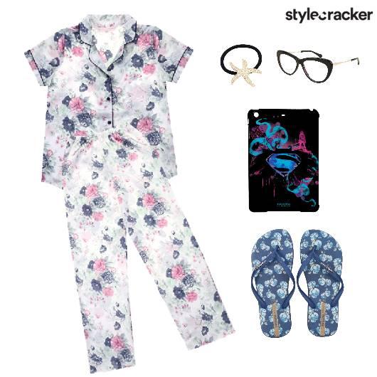 NightWear Pyjama SleepOver Flats - StyleCracker