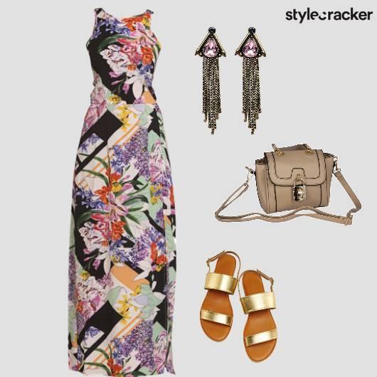 MaxiDress Prints Summer Flats  - StyleCracker