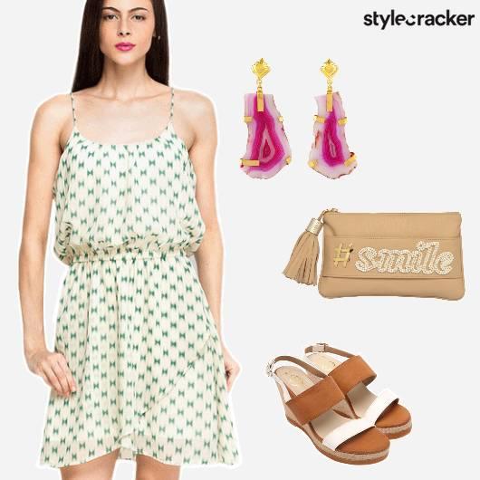 Casual SummerDresses Wedges Prints  - StyleCracker