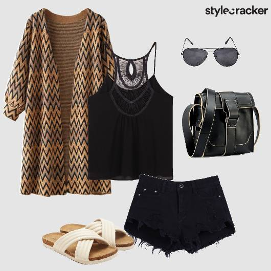 Top Shorts Cardigan Crossbody Bag Summer - StyleCracker