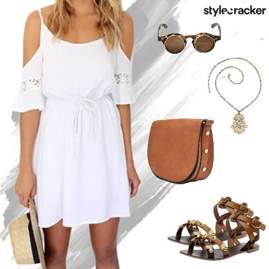 Casual ColdShoulder Dress Summer - StyleCracker