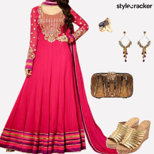 Wedding Festive Indian Anarkali - StyleCracker