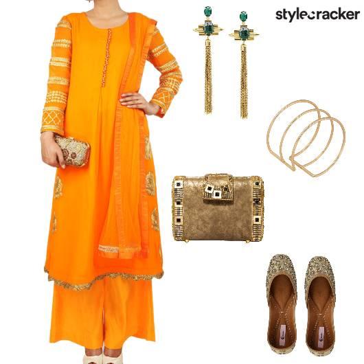 Suit Clucth Juttis Shoulderduster Indian Warmcolors - StyleCracker