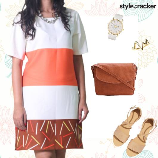 Casual ColourBlock Dress SlingBag - StyleCracker