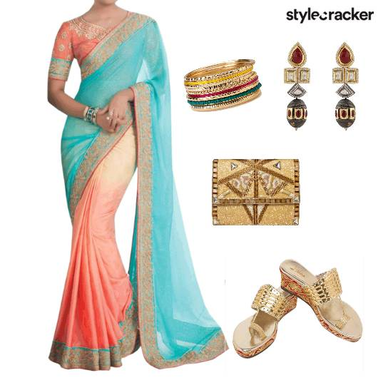 Saree Kolhapuris Indian Festive  - StyleCracker