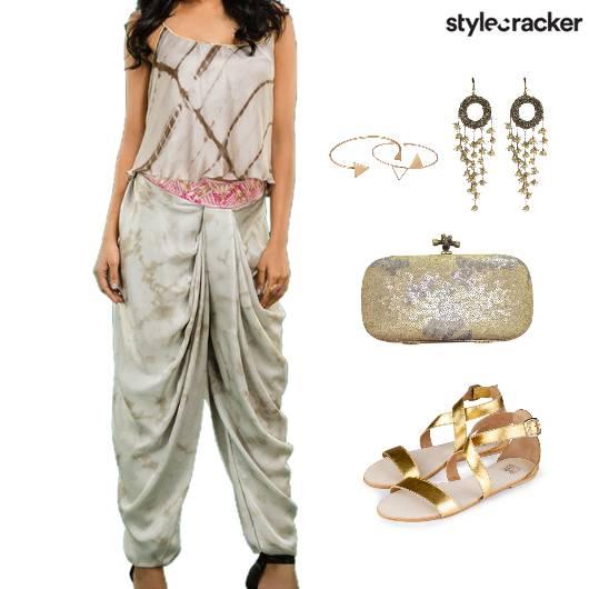 Indian Sangeet TieDye Clutch Ethnic - StyleCracker