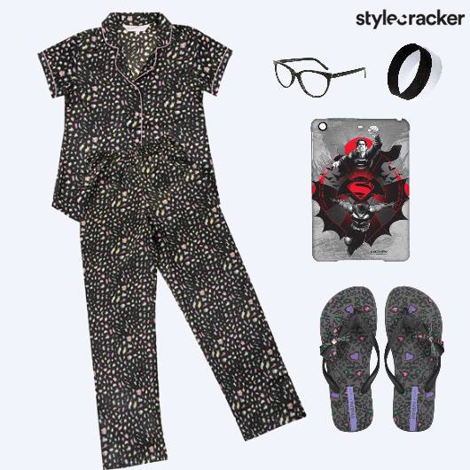 NightWear Pyjama Flats PyjamaParty  - StyleCracker