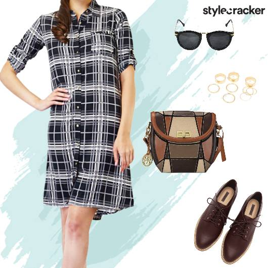 Casual Shirt Dress SlingBag  - StyleCracker