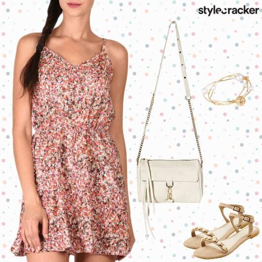 Printed Summer Dress Flats Casual - StyleCracker