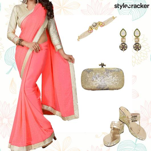 Festive Ethnic Indian Saree Bracelet - StyleCracker