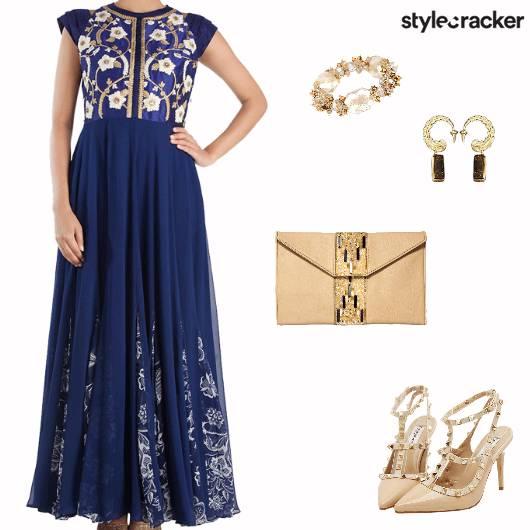 Festive Indian Wedding Sangeet Anarkali - StyleCracker