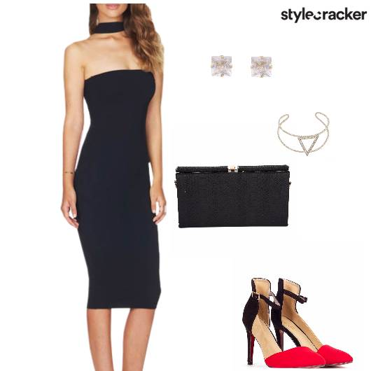 Bodycon Dress Heels clutch Party - StyleCracker