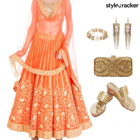 Indian Reception Wedding Ethnic WarmColors - StyleCracker