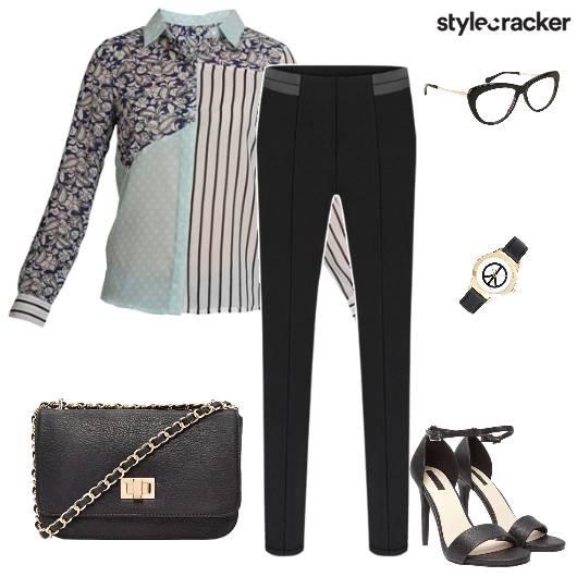 WorkWear Casuals Print Heels - StyleCracker