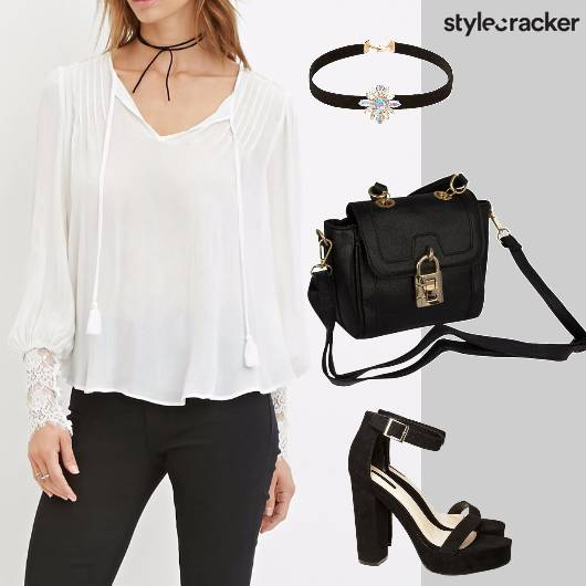 Monochrome Freespirit Choker Heels  - StyleCracker