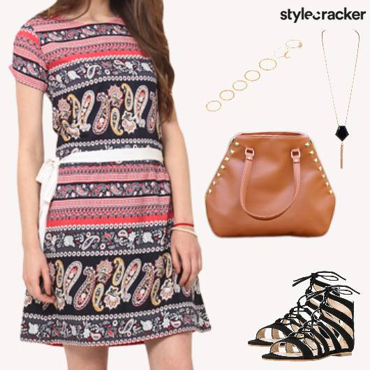 Summer Casual Printed Dress Gladiators - StyleCracker