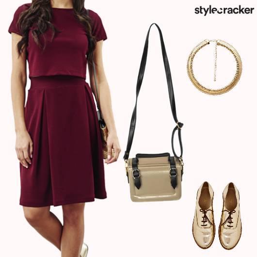 CropTop Midi Skirt WarmColors - StyleCracker