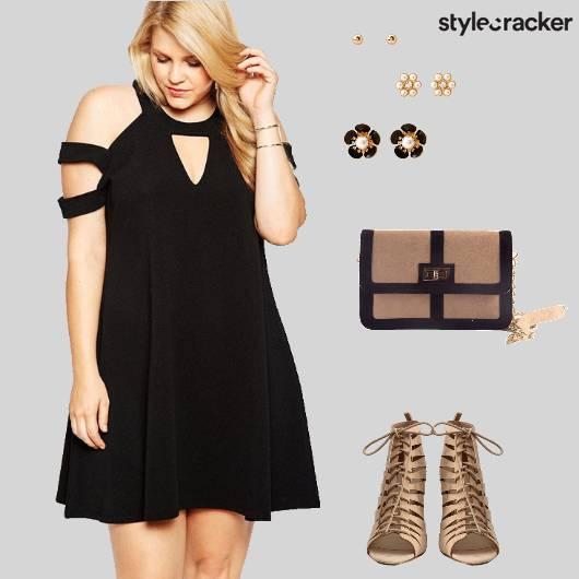 Dress Swing Heels Laceup Slingbag Studs Dinner - StyleCracker
