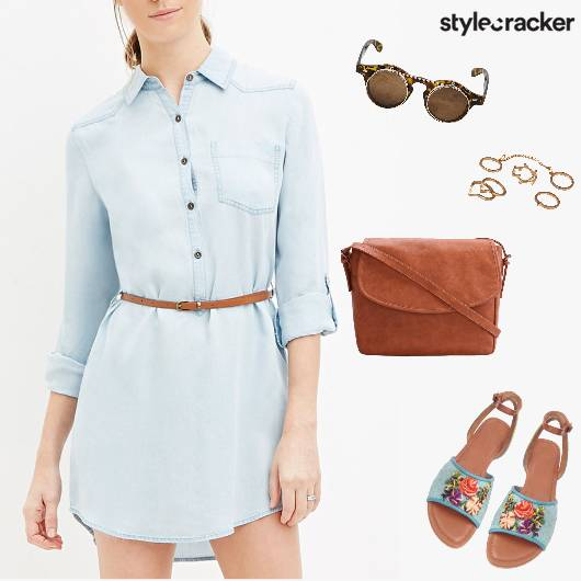 Summer Casual Denim Dress Vacations - StyleCracker