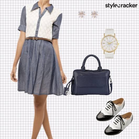 Dress Waistbelt Hangbag Oxfords Watch Work - StyleCracker
