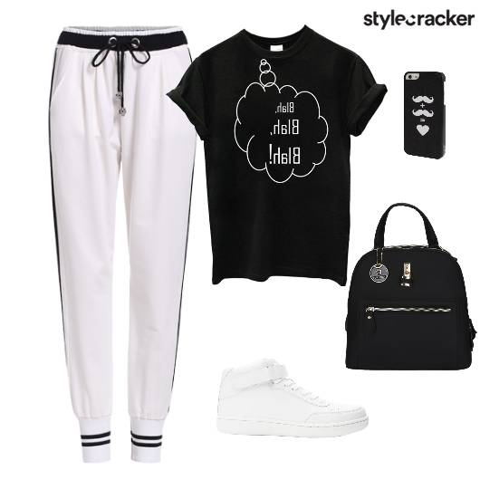 TShirt DrawString Pants Backpack Gym - StyleCracker