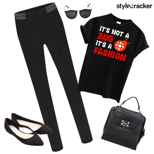 TShirt SlimPants Casuals Ballet Flats  - StyleCracker