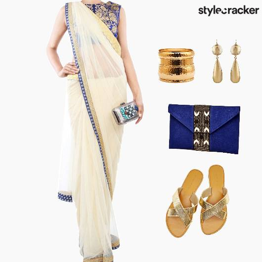 Indian Reception Wedding Saree - StyleCracker
