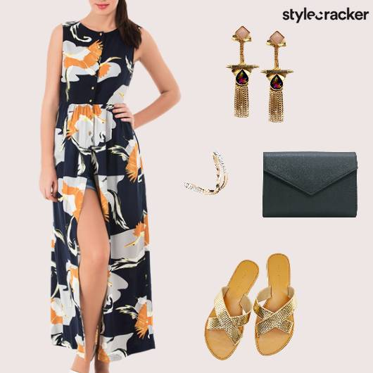 FrontSlit Shorts Casual SlipOns WarmColors  - StyleCracker