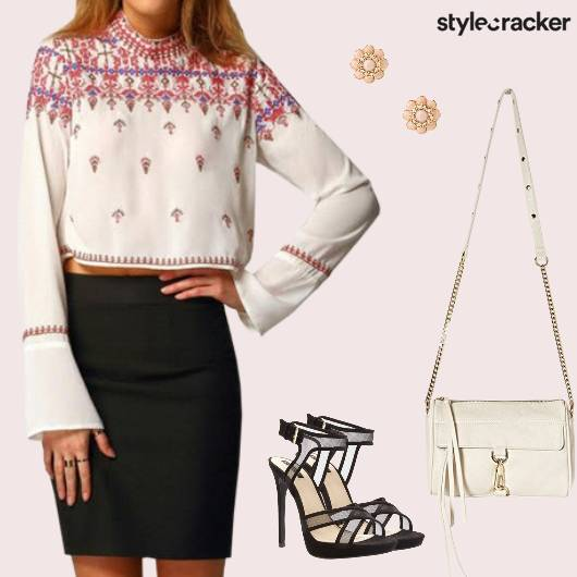 Top Skirt Slingbag Heels Dinner - StyleCracker