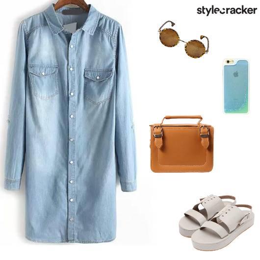 Casual Summer Shirt Dress Denim - StyleCracker