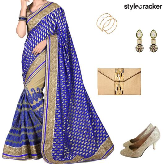 Festive Ethnic Indian Saree Wedding - StyleCracker