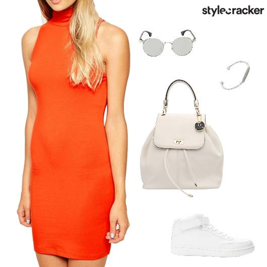 Brights WarmColours Bodycon Casual OnTheGo - StyleCracker