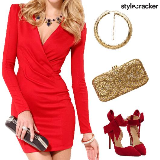 Red NightOut BodyCon Party Glam - StyleCracker