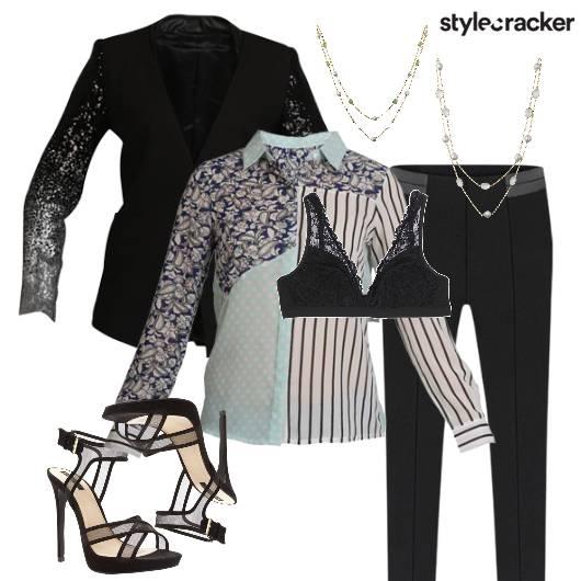 Layers NightOut Glam Print - StyleCracker